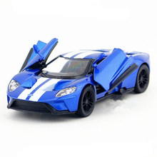 KINSMART Racing Car Toy, 1:38 Alloy & ABS Sports Cars GT Model, Pull Back Openable Door, Boys Gift, Kids Toys Juguetes Vehicle
