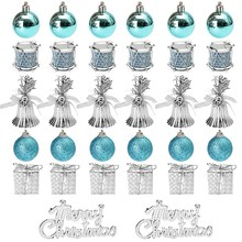 32pcs Christmas Ornaments Balls Drums Baubles Tree Pendant Home Party Decor Holiday Decoration