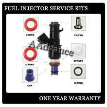 CARS JAPAN TOP FEED MPI INJECTOR REPAIR KITS  VITON O-RINGS,PINTLE CAPS,SPACER AND MICRO FILTER BASKET,FUEL INJECTION SERVICE