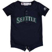 MLB Newborn & Infant Seattle Mariners Baseball Alternate Navy Cool Base Romper Jersey(China)