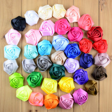 2 inch ribbon satin rosettes 39color Clothing Accessories Classic Rose Bud Headdress Flower Corsage 100pcs/lot freeshipping TH07