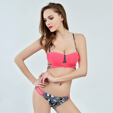 Hot New Design Sexy Swimwear Women Gather  Adjustable Straps Swimming Suit for Women Push Up New Padded Bikini Top  Free Ship