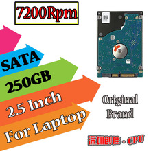 "2.5""  SATA 250GB 250g sata 7200RPM 8MB Internal Hard Disk Drive laptop notebook Free Shipping screw driver free 7200"