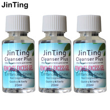 JinTing 3 pcs Cleanser Plus 20ml Liquid for removing gel varnish Degreaser Remover The Stickiness for Nail Polish(China)