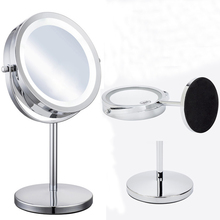 7 Inch 10X or 5X Magnifying Mirror Brightness Adjustable Make Up Makeup Mirror Dual 2 Sided Cosmetic LED Mirror