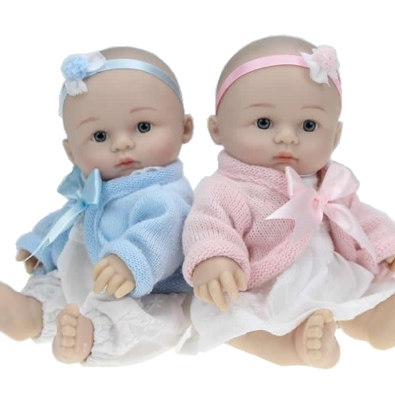 Real Lifelike 8 Inches Reborn Baby Doll Twins Collectible Newborn Girl And Boy Babies So Truly Real Kids Birthday Xmas Gift<br><br>Aliexpress