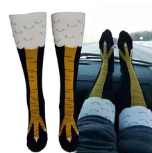 1 Pair fashion Creative Women men chicken socks punk thigh high Thin Toe Feet socks