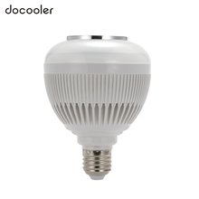Wireless Bluetooth Speaker Music LED Bulb Audio 6W E27 Speaker 12W Power RGBW Music Playing Light Lamp 24 Keys IR Remote Control(China)