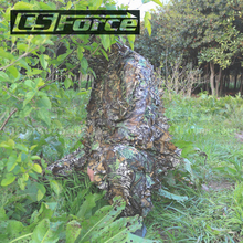 3D Tactical Leaf Camouflage Ghillie Suit Sniper Hunting Disguise Hide Yowie Paintball Training Suit Military Combat Clothes
