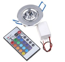 3W RGB led Downlight Ceilinglight downLamp Spot light Remote Control ceiling lamp Lighting(China)