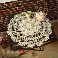 free shipping 2014 Beautiful design cotton crochet table pad cutout cover  tablecloth towel for home decor overlay table runner