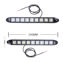 2pcsx Car COB DRL Driving Fog Light 9 LED Flexible Daytime Running Light For Honda/Toyota/Hyundai/VW/Kia for Mazda/Buick/Nissan