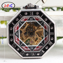 Mechanical watch gossip retro classic for men and women of dual scale double Rome manual mechanical table through the back cover