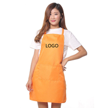 Unisex Restaurant Home Kitchen Cooking Craft Work Commercial Kit Apron With Pockets For Women Men Custom Aprons print logo