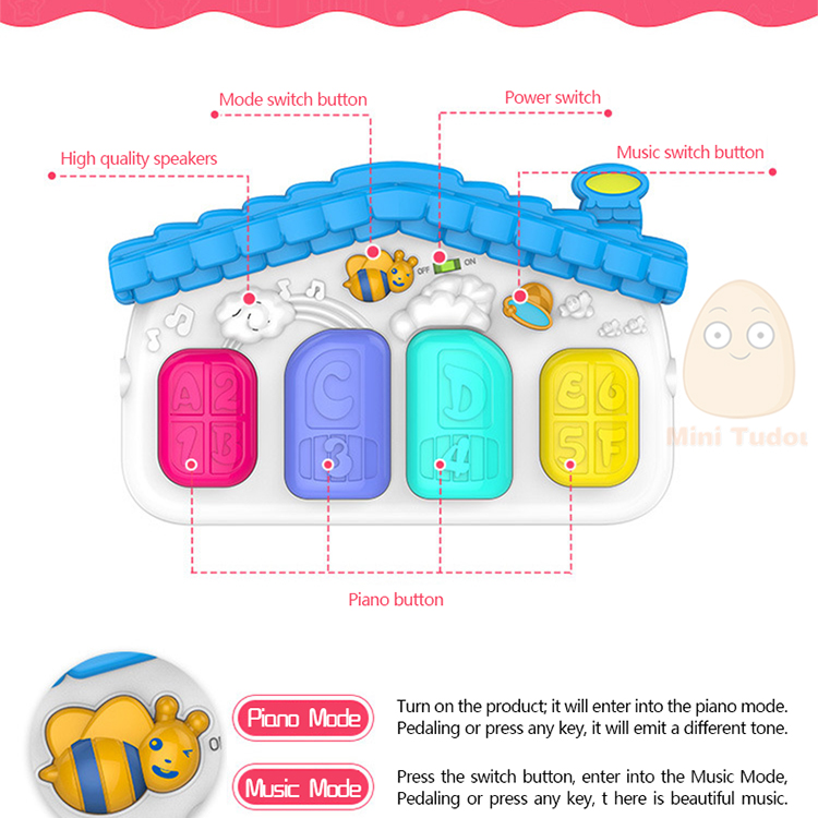 MiniTudou Baby Activity Play Mat Baby Gym Educational Fitness Frame Multi-bracket Baby Toys 0-12 Months Game Mats For Kids 5