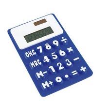F10064 Medium Size 11.6*7.5*0.8CM Portable Solar Powered Silicone Pocket Calculator 8 Digit Creative for Student Test Office Use(China)