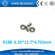 Free shipping 10 pcs R188 inch open bearings R188 (6.35 * 12.7 * 4.763MM) miniature ball bearings FOR YOYO HAND SPINNER