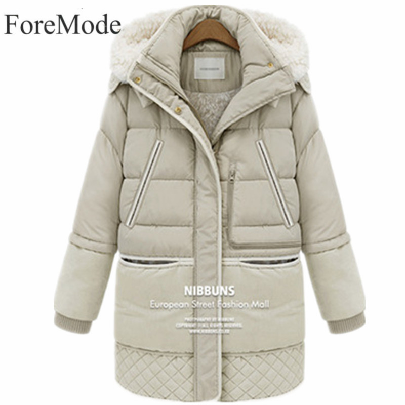 Winter Jacket Women 2017 Fashion Winter Jacket Women Thick Coats White Wool Winter Coat Outerwear Female Jackets OvercoatÎäåæäà è àêñåññóàðû<br><br>