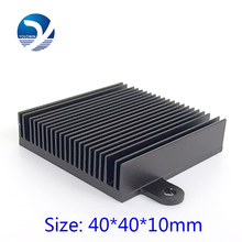 High Quality 40*40*10mm 2pcs/lot  Aluminum Heat Sink radiator for electronic Chip  LED RAM COOLER cooling  YL-0003