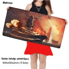 600x300/700x300/800x300/900x400mm World of Warship Locking Edge Mouse Pad Large Size Computer Keyboard Mat Table Gaming Mousepad