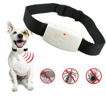 Dog Ultrasonic Pet's Pest Repeller Collar with LED Indicator Repels Mosquito Flea and Tick Repellent For Dogs Cats Pet Products(China)
