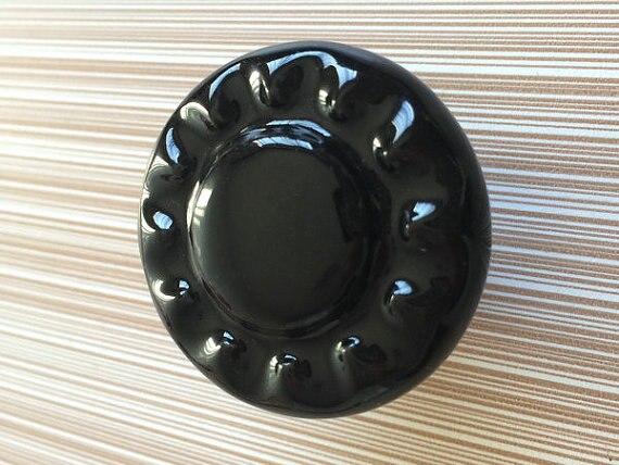 Decorative Knobs Black Rustic Ceramic Kitchen Cabinet Knobs Cupboard Door Knob Pull Handle Hardware<br><br>Aliexpress