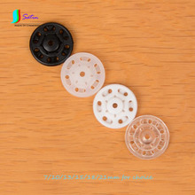 Transparent/white/black Plastic Round Invisible Snap Button for Child Pajama/Shir Invisible Button S0191H 7/10/13/15/18/21MM