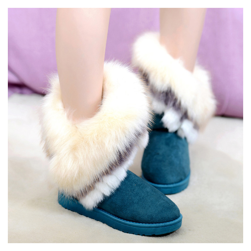 Women Boots 2017 hot Women Shoes Woman Plush Ankle Boots Winter Boots Fashion Black Ladies Winter Shoes pink<br><br>Aliexpress