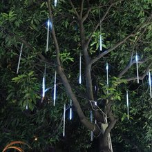 Waterproof LED Falling Rain Lights with 30cm 8Tube 136Leds Meteor Shower Lights Snow Fall String LED for Wedding Party Holiday