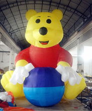 Giant Portable Advertising Item Inflatable Winnie Balloon For Outdoor Decoration