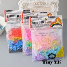 500 pieces/bag Candy black Color Elastic TPU Rubber Bands Hair Band Great Stretch  Hair Holders kids Hair Accessories