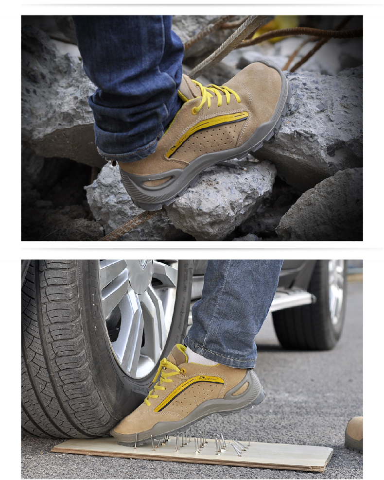 Safetoe Safety Shoes Mens Work Boots Safety Shoes Steel Toe Work Boots Fashion Leather Shoes Working Safety Boots Size US 4-13 5