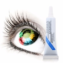 Clear White Women Beauty Waterproof False Lashes Eyelashes Adhesive Glue Eyelash Glue Thin Firm for Home Use Makeup Tool