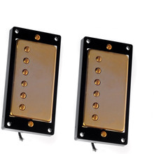 Gold Double Coil Humbucker pickups Set for LP Style Guitar Parts Accessories - Golden + Black