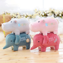 12cm Metoo New Baby toys Plush Doll Home dolls Hippo Stuffed elephant Dimensional animal Standing car cute soft kids child gift