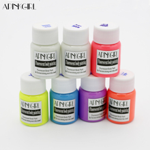 APINKGIRL Neon Fluorescent UV Body Paint Grow In The Dark Face Painting Luminous Acrylic Paints Art for Party&Halloween Make Up(China)