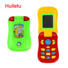 1003 Funny Flip phone toy Baby Learning Study Musical Sound phone Educational Toy mobile phone electric toy for kid