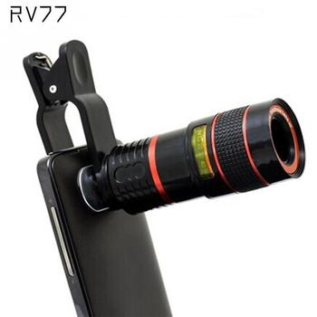 RV77 Universal 8X Optical Zoom Camera Lens Clip Mobile Phone Telescope For iPhone6