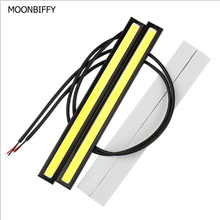 MOONBIFFY 1Pcs Car styling Ultra Bright 12W LED Daytime Running lights DC 12V 17cm Waterproof Auto Car DRL COB Driving Fog lamp(China)