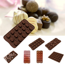 1 pc Silicone Mold Chocolate Molds Silicone DIY Cake Decoration Molds Jelly Ice Baking Mould Spoon Cake Moulds