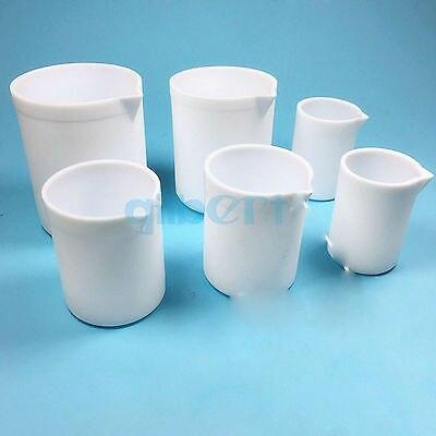 1000ml White Measuring Beaker PTFE Teflon Silicone Laboratory Ware High Quality<br>