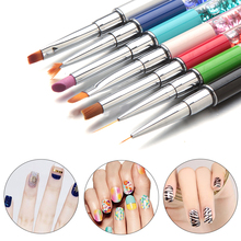 Personality Nail Art Brush Painting Flower Drawing Line Pen Crystal Rhinestone Metal Acrylic UV Gel Polish Manicure Tool(China)