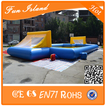 Big Outdoor Inflatable Soap Football Field/Soccer Football Field For Sale