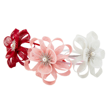 Fashion Children's Girl's Party Dancing Occassion Flower Adorn Head Band Cambric Elegant Hair Accessory Hairbands