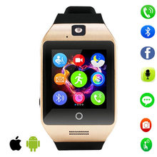 Hot Q18s square Smart watch clock Support Bluetooth NFC SIM GSM Video camera smartwatch For Android cell phone PK GT08 L58 dz09