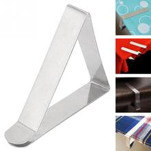 12 pcs/lot stainless steel Table Cover Cloth Clip Steel Tablecloth Clip Clamp Holder Wedding wedding decoration Party Supplies
