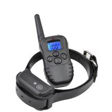 Ipets 998DB-1BL Rechargeable and Waterproof Dog Training Collar  Vibration and Shock Electric Collar Blue Backlight