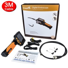 "NTS200 4x Zoom 6*LEDs 3.5"" LCD Digital Borescope Endoscope HD 1280*720 8.2 mm 3M Probe Snake Scope Inspection Wire Camera"