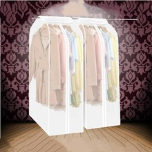 Transparent Dust Bag Wedding Dress Hanging Bags Organizer Storage Bag Garment Suit Coat Dust Cover Wardrobe Storage Bags(China)