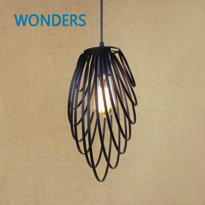 RH Creative Pendant Lights Loft Retro Industrial Rhombohedron Pendant Lamps for Bar/Restaurant Personality Home Lighting Decor<br>